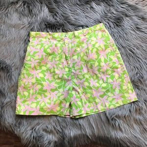 Lilly Pulitzer lime green high waisted shorts 💕